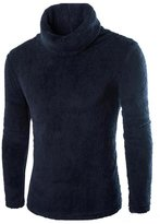 Doinshop Men Boys Sweaters Fashion Casual Turtleneck Soft Tops Blouse (M, )