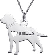 JCPenney FINE JEWELRY Personalized Labrador Sterling Silver Pendant Necklace
