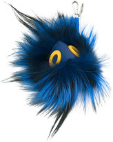 Fendi feather Faces keyring - men - Calf Leather/Feather - One Size