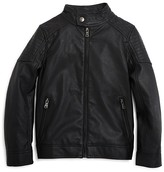 Urban Republic Boys' Faux Leather Moto Jacket - Sizes 4-7