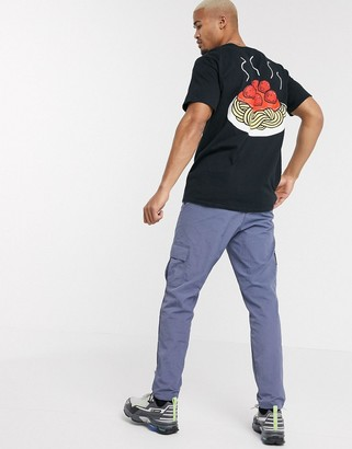 New Love Club spaghetti back print graphic t-shirt in oversized