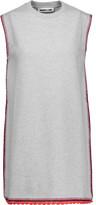 McQ by Alexander McQueen Crochet knit-trimmed marled cotton mini dress