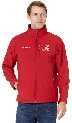 Columbia College Alabama Crimson Tide Ascendertm Softshell Jacket (Red Velvet) Men's Clothing