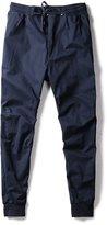 OCHENTA Men's Elastic Waist Tapered Active Harem Jogging Pants Plus Size Navy Blue Tag 6XL - US