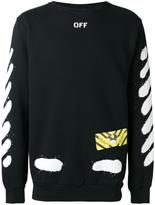 Off-White Diagonal Spray sweatshirt - men - Cotton - S