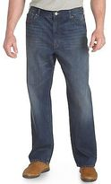 True Nation Washed Blue Relaxed-Fit Jeans Casual Male XL Big & Tall