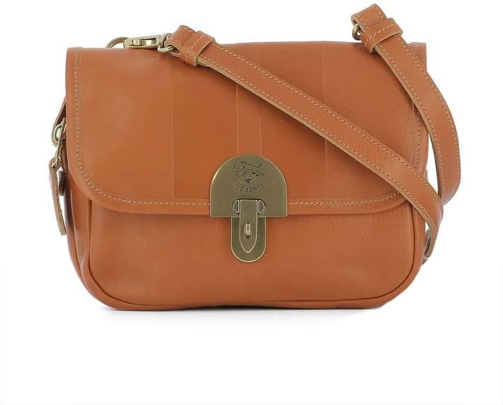 Il Bisonte Orange Leather Shoulder Bag