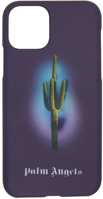 Palm Angels Purple Cactus iPhone 11 Pro Case