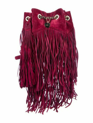 Roger Vivier Fringe Bucket Bag gold