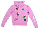 Butter Shoes Girls' Happy Patches Hoodie - Big Kid