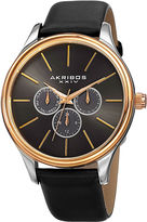 Akribos XXIV Mens Black Strap Watch-A-870ygb