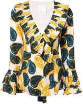 C/Meo paisley ruffle blouse