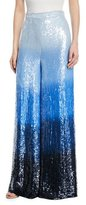 Michael Kors Dip-Dyed Embroidered Sequin Wide-Leg Trousers