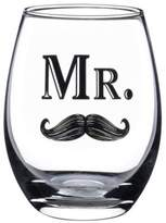 "Lillian Rose Lillian RoseTM ""Mr."" Mustache Stemless Wine Glass"