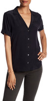 Equipment Short Sleeve Solid Blouse
