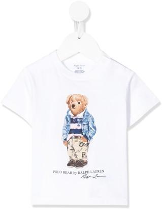Ralph Lauren Kids teddy print T-shirt