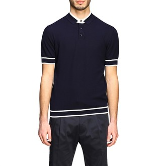 Paolo Pecora Polo Shirt Short-sleeved Polo Shirt With Contrasts