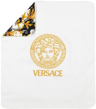 Versace Kids Acanthus stretch-cotton blanket