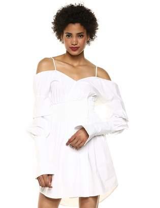 Elliatt Women's Apparel Women's Moonlight Off The Shoulder Puff Sleeve Shirt Dress
