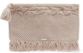Melissa Odabash Mauritius crocheted cotton clutch