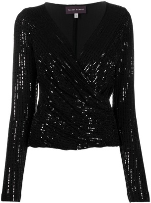 Talbot Runhof Cassiopeia1 sequin-embellished top