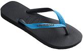 Havaianas Top Mix Flip Flops, Black/blue