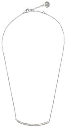 Vince Camuto Silvertone Pave Bar Necklace