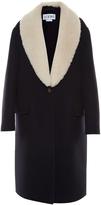 Loewe Shearling-lapel single-breasted coat