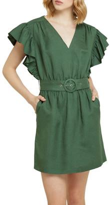 Oxford Alexis-rose Linen Blend Dress