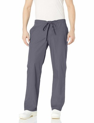 Orange Standard Men's Big and Tall Huntington Unisex Scrub Pants with Drawstring Waist and 4 Pockets