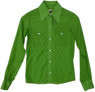 Saint Laurent Green Cotton Tops