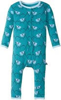 Kickee Pants Print Fitted Coverall (Baby) - Bay Mountain Goat - Newborn