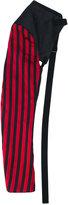 Ann Demeulemeester striped fingerless gloves - women - Silk/Cotton/Linen/Flax/Polyester - S