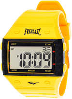 Everlast Yellow Silicone Strap Digital Sport Watch