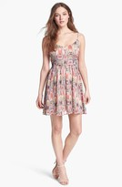 BB Dakota 'Heller' Print Fit & Flare Dress