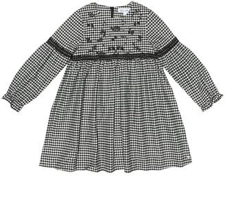 Tartine et Chocolat Gingham wool-blend dress