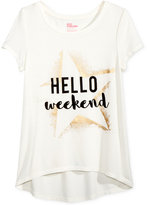 Hello Kitty Epic Threads Hello Weekend Graphic-Print High-Low T-Shirt, Big Girls (7-16), Only at Macy's