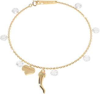 Rebecca Lucciole Sterling Silver Gold Plated Bracelet w/Crystals