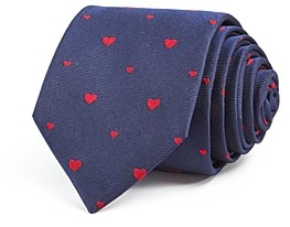Paul Smith Heart Silk Skinny Tie