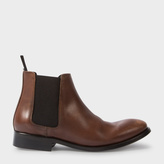 Paul Smith Women's Brown Calf Leather 'Lydon' Chelsea Boots
