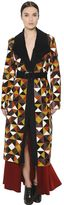 Sportmax Geometric Patchwork Suede Long Coat