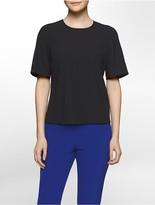 Calvin Klein Platinum Back-Zip Crepe Top