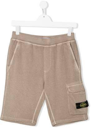 Stone Island Junior TEEN flap pocket shorts