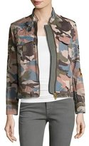 Zadig & Voltaire Kavy Embroidered Camo Utility Jacket, Multicolor