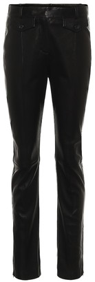 Tom Ford Leather high-rise slim pants