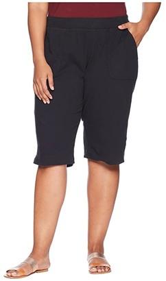 Fresh Produce Plus Size Key Largo Pedal Pusher (Moonlight Blue) Women's Shorts
