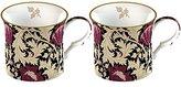 V&A Creative Tops William Morris Anemone Fine Bone China Mugs, Set of 2, Black