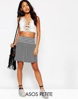 Asos Printed Mini Skirt With Shirring