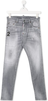 DSQUARED2 TEEN denim faded jeans