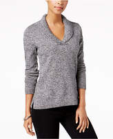 Charter Club Petite Marled Shawl-Collar Sweater, Created for Macy's